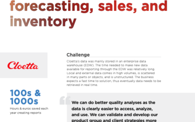 Cloetta merges local and global data for improved forecasting, sales, and inventory