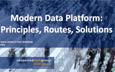 Free Virtual Workshop Modern Data Platforms