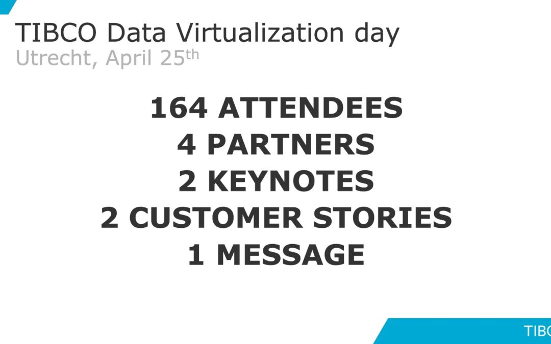 TIBCO Data Virtualization Day – April 25th, 2019 Utrecht – Netherlands