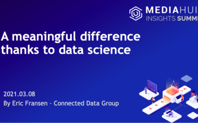 Mediahuis Insight Summit about Data Science with Connected Data Group