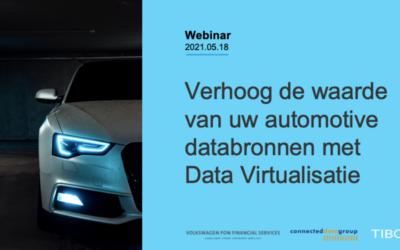 """Verslag Webinar """"Verhoog de waarde van uw automotive databronnen met data virtualisatie"""""""