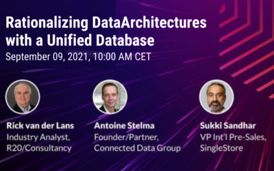 Webinar Rationalizing Data Architectures with a Unified Database