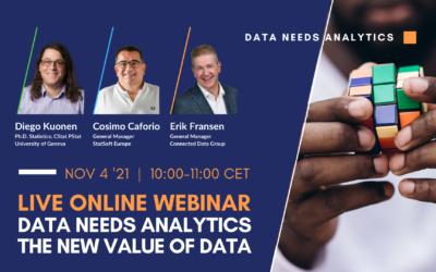 Webinar Data needs Analytics – the new value of data